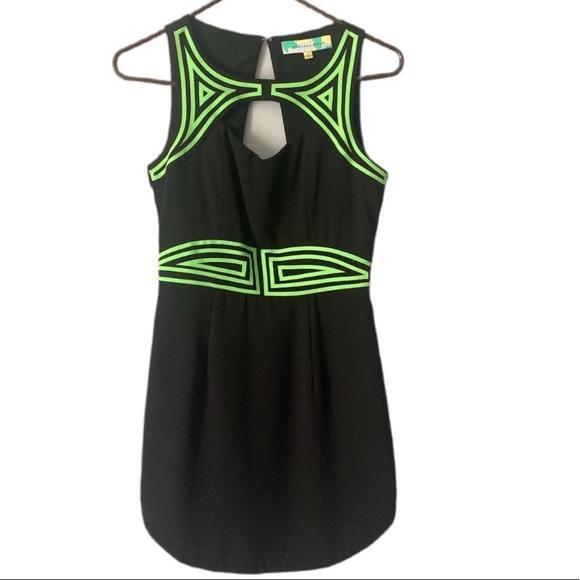 Endless Rose Dress (Black/Neon Detail) Size S
